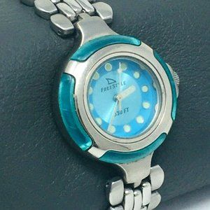 Freestyle 714 Stainless/Aqua Blue/Resin Watch